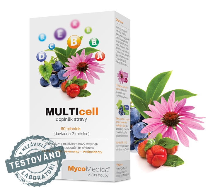 Nejlepší multivitamin s třapatkou – MULTIcell