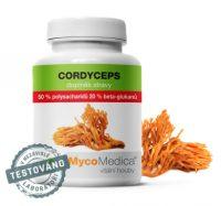 Pro zvýšení fyzické výkonnosti Cordyceps 50% – Housenice čínská