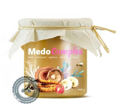 MedoComplex – Reishi, Acerola, Cordyceps, Agaricus, Shiitake v medu