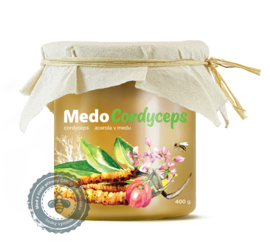 MedoCordyceps – Cordyceps a Acerola v medu