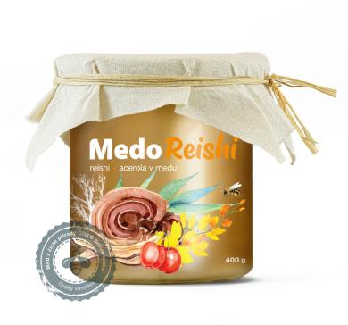 Včelí med s Reishi – MedoReishi