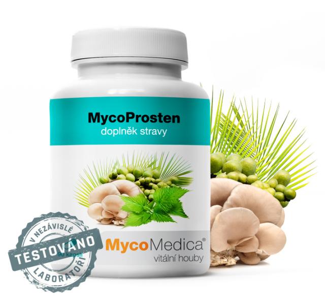 MycoProsten – kopřiva, maitake, selen,zinek pro normální funkci prostaty – 5 Kč/den