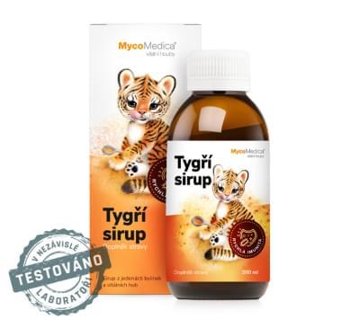 Bylinky pro děti pro podporu normální funkce horních dýchacích cest – Tygří sirup