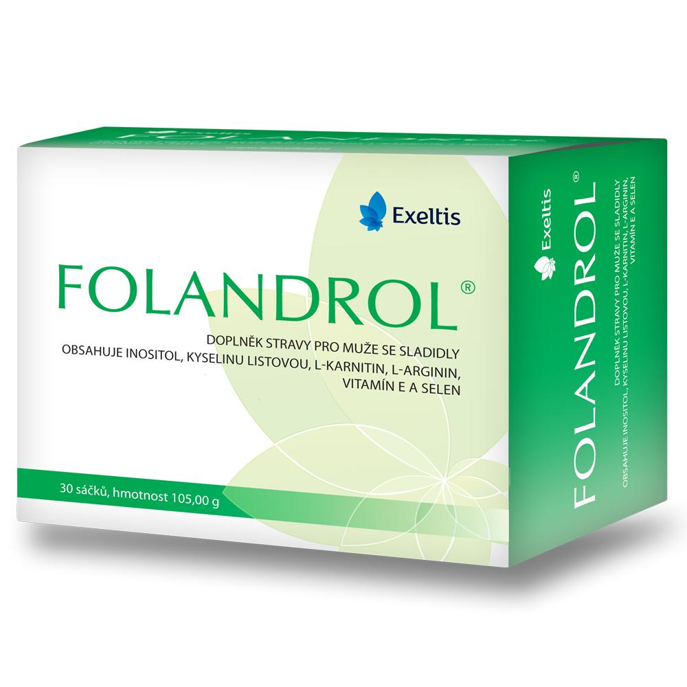 Folandrol – doplněk stravy pro muže přispívá k normální spermiogenezi – 21Kč/den